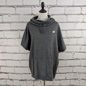 Nike Oversized Short Sleeved Hoodie!